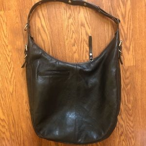 FRYE large leather tote hobo purse
